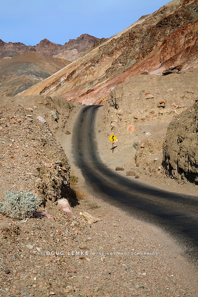 Artists Drive As It Turns And Tumbles Through The Mars Like Landscape Of Death Valley National Park, California, USA