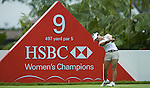 SINGAPORE - MARCH 05:  Hee Young Park of South Korea plays her tee shot on the par five 9th hole during the first round of HSBC Women's Champions at the Tanah Merah Country Club on March 5, 2009 in Singapore. Photo by Victor Fraile / The Power of Sport Images