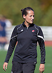 Wisconsin Badgers women's soccer head coach Paula Wilkins during an NCAA women's soccer game against the Illinois Fighting Illini at the McClimon Memorial Track/Soccer Complex in Madison, Wisconsin on October 10, 2010. Wisconsin and Illinois tied 0-0 in double overtime. (Photo by David Stluka)