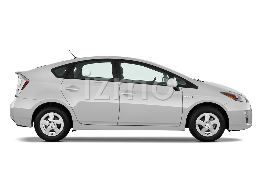 Driver side profile view of a 2010 Toyota Prius 2.
