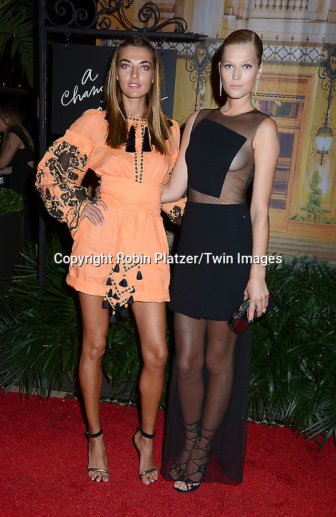 Alina Baikava and Toni Garrn attends the New Yorkers for Children's Fall Gala on September 16, 2015 at Cipriani 42nd Street in New York City, New York, USA.<br /> <br /> photo by Robin Platzer/Twin Images<br />  <br /> phone number 212-935-0770