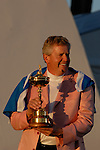Colin Montgomerie, part of the victorious European Team, holds the Ryder Cup during the closing ceremony of the 2006 Ryder Cup at The K Club..Photo: Eoin Clarke/Newsfile.