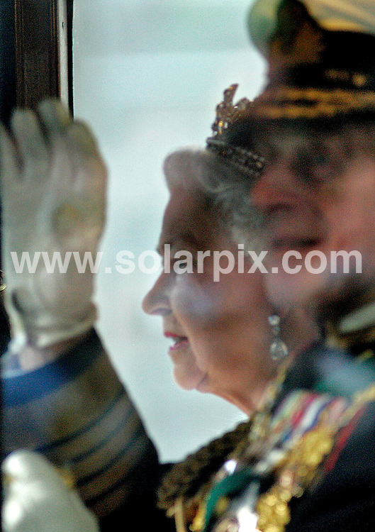 **ALL ROUND PICTURES FROM SOLARPIX.COM**.**NO UK NEWSPAPER PUBLICATION **UK MAGAZINE PUBLICATION ONLY** AND NO PUBLICATION IN FRANCE, SCANDINAVIA, AUSTRALIA AND GERMANY** .It's been revealed today the  Prince Philip has had a secret heart condition for 15 years. The Duke of Edinburgh, 86, suffered a bout of ill-health recently which caused concern among the royal family. He recovered and has since insisted on carrying out a full programme of engagements, refusing to curtail his busy schedule. 26th October 2007..This pic: The Queen and The Duke Of Edinburgh arriving by carriage for The State Opening Of Parliament in Westminster last year...JOB REF: 5194 SFE       DATE: 26_10_2007.**MUST CREDIT SOLARPIX.COM OR DOUBLE FEE WILL BE CHARGED* *UNDER NO CIRCUMSTANCES IS THIS IMAGE TO BE REPRODUCED FOR ANY ONLINE EDITION WITHOUT PRIOR PERMISSION*