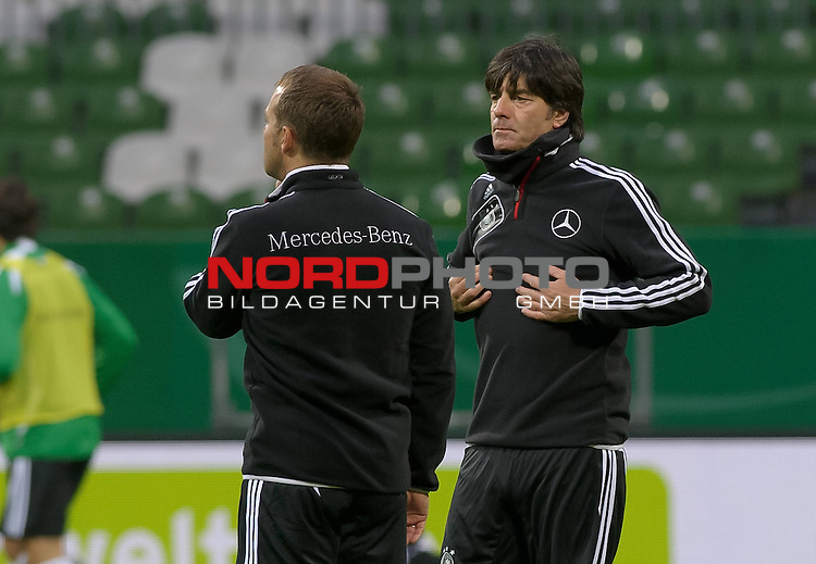 28.02.2012, Weserstadion, Bremen, GER, Training Deutsche Nationalmannschaft, im Bild Hansi Flick, Joachim L&ouml;w / Loew (Trainer Deutschland)<br /> <br /> // during training session of the German National Team on 2012/02/28, Weserstadion, Bremen, Germany.<br /> Foto &copy; nph / Frisch *** Local Caption ***