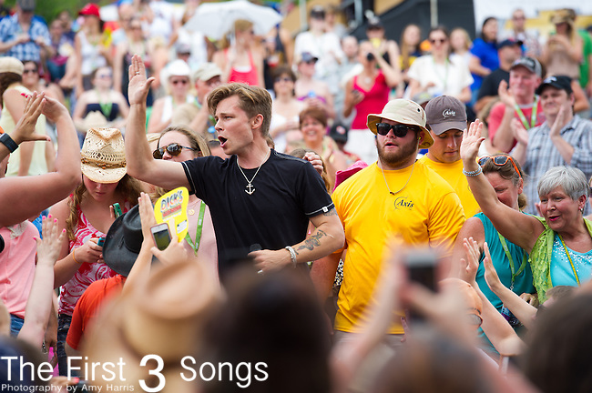 Frankie Ballard performs on Day Three of the 2014 CMA Music Festival in Nashville, Tennessee.