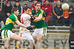 Anthony Maher, Kerry in action against Damien Casey Tyrone in the fourth round of the National Football league at Fitzgerald Stadium, Killarney on Sunday.