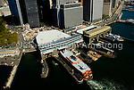 Aerial view of Staten Island Ferry Terminal, Lower Manhattan