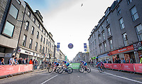 Picture by Allan McKenzie/SWpix.com - 17/05/2018 - Cycling - OVO Energy Tour Series Womens Race - Round 2:Aberdeen - The peloton makes its way through Aberdeen.