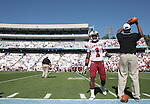 13 October 2007: South Carolina's Captain Munnerlyn (1). The University of South Carolina Gamecocks defeated the University of North Carolina Tar Heels 21-15 at Kenan Stadium in Chapel Hill, North Carolina in an NCAA College Football Division I game.