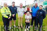 At the Carmel O'Connor Memorial Blitz in Na Gaeil on Saturday. Gda Mary Gardiner, Darragh O'Shea, Davy, Jade, Kate and Anthony O'Connor and Sgt Eileen O'Sullivan.