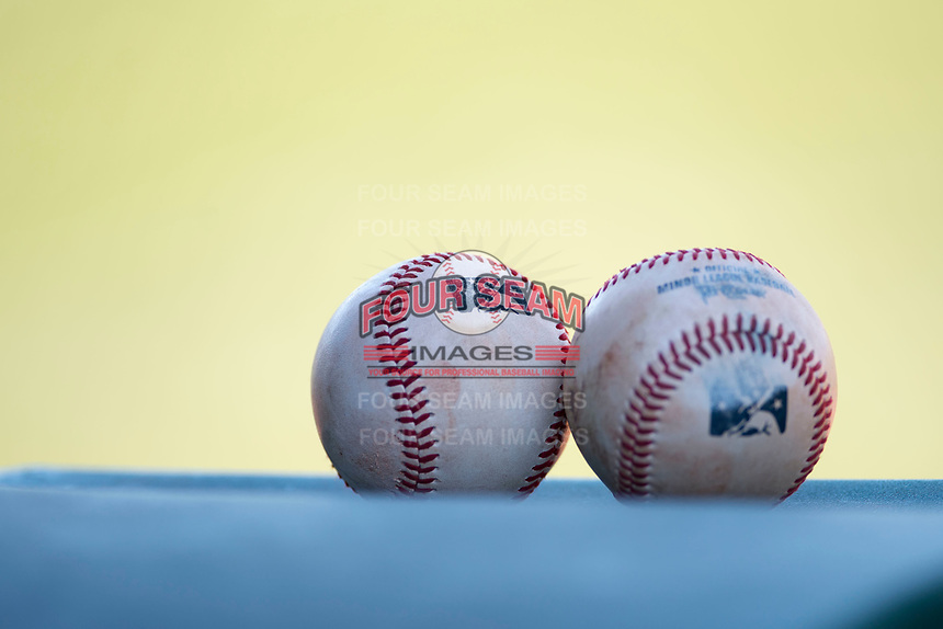 Minor League baseballs at a Minor League Spring Training game between the Cincinnati Reds and the Chicago White Sox at the Cincinnati Reds Training Complex on March 28, 2018 in Goodyear, Arizona. (Zachary Lucy/Four Seam Images)