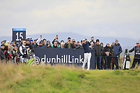 Tyrrell Hatton (ENG) on the 15th tee during Round 4 of the Alfred Dunhill Links Championship 2019 at St. Andrews Golf CLub, Fife, Scotland. 29/09/2019.<br /> Picture Thos Caffrey / Golffile.ie<br /> <br /> All photo usage must carry mandatory copyright credit (© Golffile | Thos Caffrey)