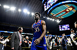 SAN ANTONIO, TX - MARCH 31: Udoka Azubuike #35 of the Kansas Jayhawks leavs the court after the team's loss to the Villanova Wildcats in the 2018 NCAA Men's Final Four semifinal game at the Alamodome on March 31, 2018 in San Antonio, Texas.  (Photo by Josh Duplechian/NCAA Photos via Getty Images)