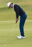 Thorbjorn Olesen of Denmark putts during Round 3 of the 2015 Alfred Dunhill Links Championship at the Old Course, St Andrews, in Fife, Scotland on 3/10/15.<br /> Picture: Richard Martin-Roberts | Golffile