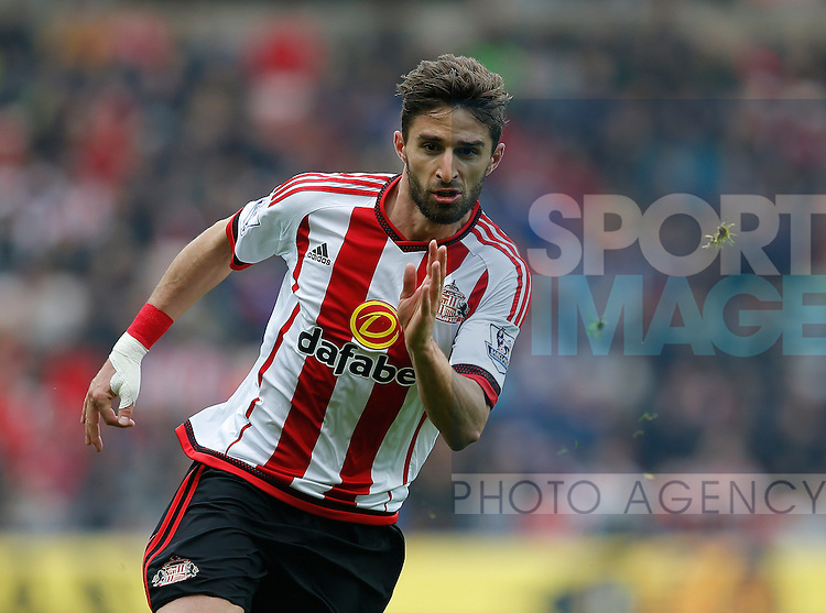 Fabio Borini of Sunderland during the Barclays Premier League match at the Stadium of Light, Sunderland. Photo credit should read: Simon Bellis/Sportimage