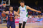 League ACB-ENDESA 2017/2018 - Game: 27.<br /> FC Barcelona Lassa vs Real Betis Energia Plus: 121-56.<br /> Pau Ribas vs Luke Nelson.