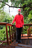 JAMAICA, Port Antonio. Portrait of kitchen staff at the Bush Bar at Geejam Hotel.