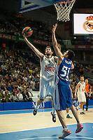 Real Madrid´s Rudy Fernandez and Anadolu Efes´s Milko Bjelica during 2014-15 Euroleague Basketball match between Real Madrid and Anadolu Efes at Palacio de los Deportes stadium in Madrid, Spain. December 18, 2014. (ALTERPHOTOS/Luis Fernandez) /NortePhoto /NortePhoto.com