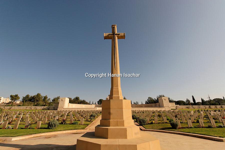 Israel, Jerusalem, Jerusalem War Cemetery on Mount Scopus, the resting place for British World War I dead<br />
