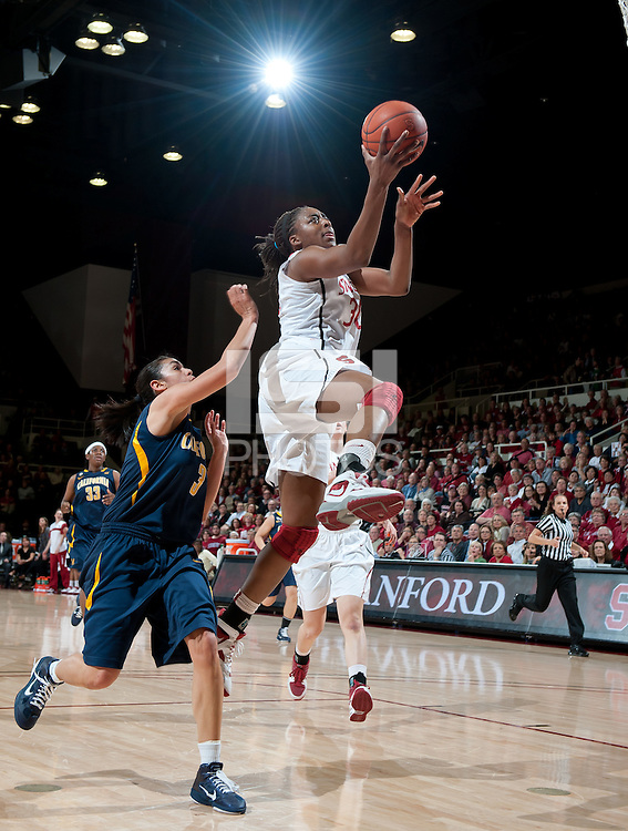 STANFORD, CA - March 3, 2010: Stanford Cardinal's Nnemkadi Ogwumike during Stanford's game against University of California at Maples Pavilion in Stanford, California.