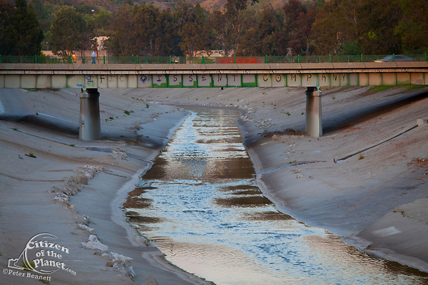 Overland Ave bridge at Ballona Creek, Culver City, Los Angeles, california, USA