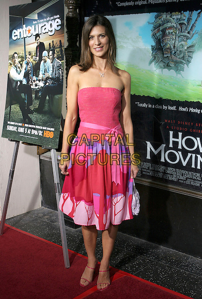 PERREY REEVES.Premiere of HBO's series ENTOURAGE held at the El Capitan Theater, Hollywood, California.May 25th, 2005.Photo Credit: Zach Lipp/AdMedia.full length pink strapless top pink skirt ribbon belt.www.capitalpictures.com.sales@capitalpictures.com.© Capital Pictures.