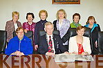 Killarney Town Council held a civic reception for the Killarney Soroptimists in the Town Hall on Friday evening Front row:  Cllr Donal O'Grady, Sheila Casey, Anne Wrenn President, Sean Grady Mayor, Michael O'Leary and Teresa Irwin. Back row: Cllr Sean Counihan, Eileen Foley, Cllr Tom Doherty, Anne Lucey, Cathal Walshe, Kathleen McMullen, Cllr Michael Gleeson, Catherine , Breda Counihan, Ann O'Connor, Noreen Browne, Peggy Rikert, Frankie McMahon, Maura Horan and Marie O'Doherty.