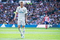 Real Madrid Toni Kroos during La Liga match between Real Madrid and Atletico de Madrid at Santiago Bernabeu Stadium in Madrid, Spain. April 08, 2018. (ALTERPHOTOS/Borja B.Hojas) /NortePhoto NORTEPHOTOMEXICO