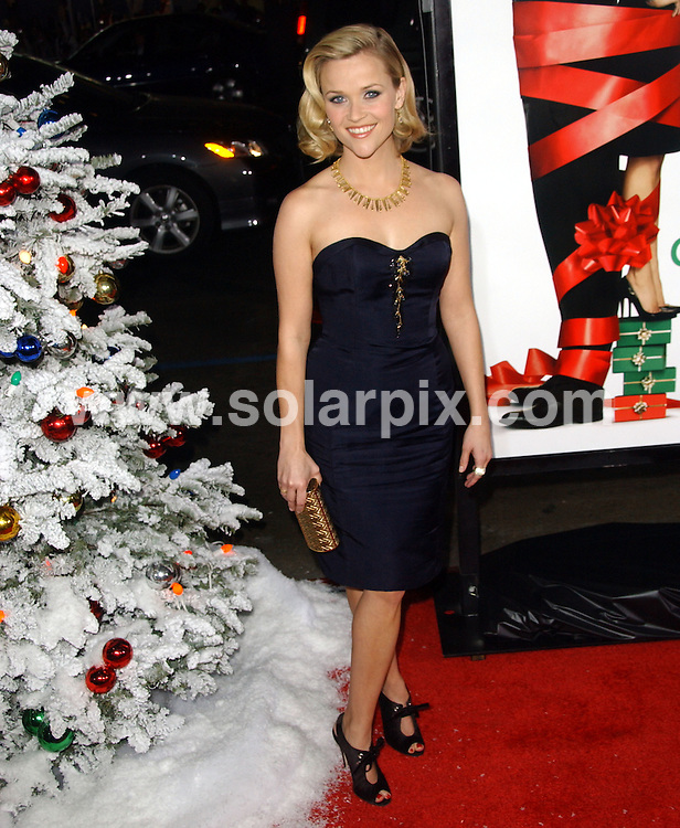 "**ALL ROUND PICTURES FROM SOLARPIX.COM**.**SYNDICATION RIGHTS FOR UK, SPAIN, PORTUGAL, AUSTRALIA, S.AFRICA & DUBAI (U.A.E) ONLY**.Reese Witherspoon at the ""Four Christmases"" World Premiere, held at Grauman's Chinese Theatre, Hollywood, California, USA. 20th November 2008..JOB REF: 7968 PHZ (Ortega)   DATE: 20_11_2008.**MUST CREDIT SOLARPIX.COM OR DOUBLE FEE WILL BE CHARGED* *UNDER NO CIRCUMSTANCES IS THIS IMAGE TO BE REPRODUCED FOR ANY ONLINE EDITION WITHOUT PRIOR PERMISSION*"