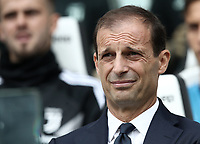 Calcio, Serie A: Juventus - Sassuolo, Turin, Allianz Stadium, September 16, 2018.<br /> Juventus' coach Massimiliano Allegri prior to theItalian Serie A football match between Juventus and  Sassuolo at Torino's Allianz stadium, September 16, 2018.<br /> UPDATE IMAGES PRESS/Isabella Bonotto