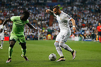 Real Madrid´s Spanish forward Jesé Rodriguez and Manchester City´s defense Bacary Sagna<br />  during the UEFA Champions League match between Real Madrid and Manchester City at the Santiago Bernabeu Stadium in Madrid, Wednesday, May 4, 2016.