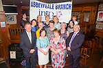+++Reproduction Free+++<br /> Members of the Abbeyfeale INTO Branch who recently retired, pictured last Thursday night in Leen's Hotel Abbeyfeale was F l-r: Miche&aacute;l Stack - Rockchapel NS, Mary Joe Healy- Scoil Mh&aacute;thair D&eacute;, Abbeyfeale NS,<br /> Margaret Curtin - Knocknagoshel NS,<br /> Marie Gleeson- Scoil Mh&aacute;thair D&eacute;, Abbeyfeale NS, Nora Gaire - Scoil Mh&aacute;thair D&eacute;, Abbeyfeale NS, Mary Harnett - Dromtrasna NS, Mary Harnett - Glengurt NS,<br /> Tom Roche - Knockaclarig NS. B l-r: B1Ann Horan (BFC), Carmel Fitzgerald(Branch Sec), Margaret Bernard (CEC), M&aacute;ire Collins (Brach Chair Person), Mary Scanlon (Org Committee), Patricia Moloney (Branch Organiser).