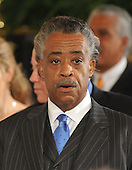 Washington, D.C. - May 26, 2009 -- Reverend Al Sharpton awaits United States President Barack Obama's announcement naming Judge Sonia Sotomayor of the Federal Appeals Court as his nominee for Justice of the U.S. Supreme Court  in the East Room of the White House on Tuesday, May 26, 2009.  She will replace retiring Justice David Souter. Judge Sotomayor, 54, of The Bronx, New York, will be the first Hispanic to serve if her nomination is approved by the U.S. Senate.  .Credit: Ron Sachs / Pool via CNP