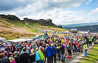 Picture by Alex Whitehead/SWpix.com - 03/05/2015 - Cycling - 2015 Tour de Yorkshire: Stage 3, Wakefield to Leeds - The peloton in action up the Cow and Calf in Ilkley.
