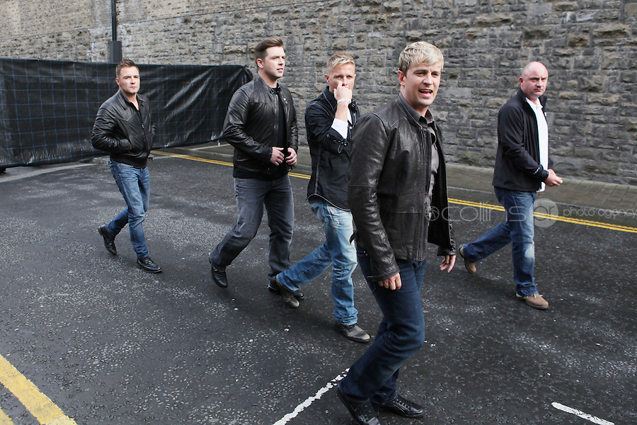 23/9/2010. Arthurs day. Westlife are pictured arriving at the Guinness Store House Dublin raise their glasses for Arthurs Day. Picture James Horan/Collins