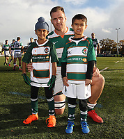 Mascots before the Championship Cup match between Ealing Trailfinders and Jersey at Castle Bar , West Ealing , England  on 11 November 2018. Photo by Harry Hubbard/PRiME Media Images