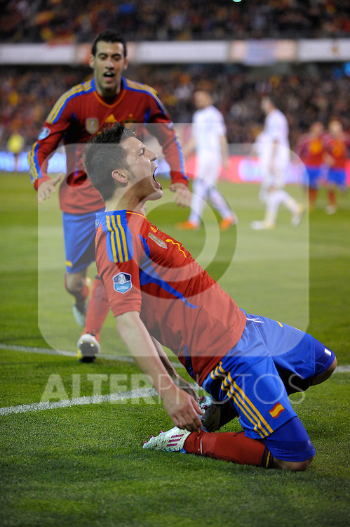 GRANADA, Spain (25/03/11). Partido de clasificacion para la Eurocopa 2012 de futbol. España Republica Checa. Qualifiers match for Euro 2012 soccer football. Spain vs Czech Republic...©Raul Perez / ALFAQUI FOTOGRAFIA.
