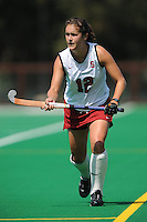 Stanford, CA - SEPTEMBER 13:  Defender Bailey Richardson #12 of the Stanford Cardinal during Stanford's 3-2 loss against the Iowa Hawkeyes on September 13, 2008 at the Varsity Field Hockey Turf in Stanford, California.
