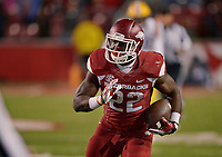 NWA Democrat-Gazette/BEN GOFF @NWABENGOFF<br /> Rawleigh Williams III, Arkansas running back, carries in the 4th quarter against LSU on Saturday Nov. 12, 2016 during the game at Razorback Stadium in Fayetteville.