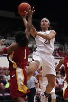 STANFORD, CA - JANUARY 29:  Rosalyn Gold-Onwude of the Stanford Cardinal during Stanford's 81-53 win over the USC Trojans on January 29, 2009 at Maples Pavilion in Stanford, California.