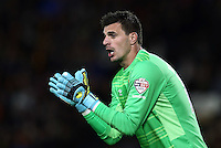Hull City goalkeeper Eldin Jakupovic during the Capital One Cup match between Hull City and Swansea City played at the Kingston Communications Stadium, Hull