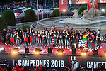 Atletico de Madrid celebrating Europa League Championship at Neptune Fountain in Madrid, Spain. May 18, 2018. (ALTERPHOTOS/Borja B.Hojas)