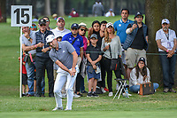 Sergio Garcia (ESP) chips on to 15 during round 3 of the World Golf Championships, Mexico, Club De Golf Chapultepec, Mexico City, Mexico. 2/23/2019.<br /> Picture: Golffile | Ken Murray<br /> <br /> <br /> All photo usage must carry mandatory copyright credit (© Golffile | Ken Murray)