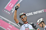 Fabio Aru (ITA) UAE Team Emirates at sign on before the start of Stage 4 a 202km very hilly stage running from Catania to Caltagirone, Sicily, Italy. 8th May 2018.<br /> Picture: LaPresse/Fabio Ferrari | Cyclefile<br /> <br /> <br /> All photos usage must carry mandatory copyright credit (&copy; Cyclefile | LaPresse/Fabio Ferrari)