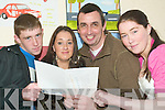 Education fun: Students of the Listowel Youthreach Programme which is celebrating it's 10th anniversary this year and is recruiting more students this week. Pictured l-r Jason O'Brien and Cianna O'Brien, (Abbeyfeale), Tim O'Connor (Tutor) and Sarah Coffey (Abbeyfeale).