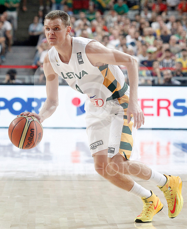 Lithuania's Renaldas Seibutis during 2014 FIBA Basketball World Cup Quarter-Finals match.September 9,2014.(ALTERPHOTOS/Acero)
