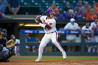 Kyle Wilkie (49) of the Clemson Tigers at bat against the Duke Blue Devils in Game Three of the 2017 ACC Baseball Championship at Louisville Slugger Field on May 23, 2017 in Louisville, Kentucky. The Blue Devils defeated the Tigers 6-3. (Brian Westerholt/Four Seam Images)