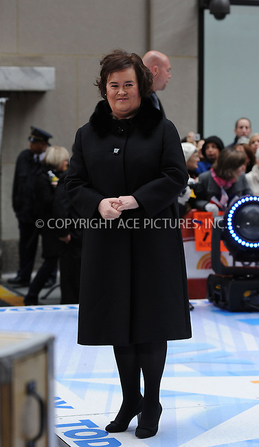 WWW.ACEPIXS.COM . . . . . ....November 23 2009, New York City....British singing sensation Susan Boyle performed on NBC's 'Today Show' at the Rockefeller Center on November 23 2009 in New York City....Please byline: KRISTIN CALLAHAN - ACEPIXS.COM.. . . . . . ..Ace Pictures, Inc:  ..tel: (212) 243 8787 or (646) 769 0430..e-mail: info@acepixs.com..web: http://www.acepixs.com