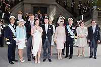 The royal christening of Crown Princess Victoria and Prince Daniel s daughter Princess Estelle Silvia Ewa Mary of Sweden, in the Royal Chapel in Stockholm, May 22, 2012.    Pictured: Prince Carl Philip, Anna Westling Söderblom, Crown Prince Willem Alexander, Crown Princess Victoria, Princess Estelle, Prince Daniel, Crown Princess Mary, Queen Silvia, King Carl XVI Gustaf, Crown Prince Haakon, Ewa Westling and Olle Westling.   Photo: David Sica Code: 1002 COPYRIGHT STELLA PICTURES.Credit: Stella Pictures/face to face.- Germany, Austria, Switzerland and USA rights only - / Mediapunchinc