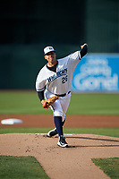 West Michigan Whitecaps starting pitcher Eudis Idrogo (26) delivers a pitch during a game against the Clinton LumberKings on May 3, 2017 at Fifth Third Ballpark in Comstock Park, Michigan.  West Michigan defeated Clinton 3-2.  (Mike Janes/Four Seam Images)